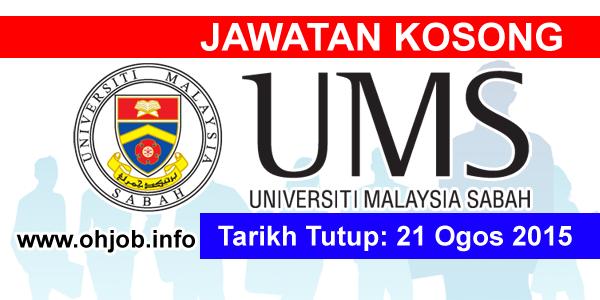 Jawatan Kerja Kosong Universiti Malaysia Sabah (UMS) logo www.ohjob.info ogos 2015