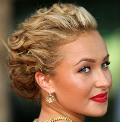 updo hairstyles for curly hair. celebrity prom updo hairstyles