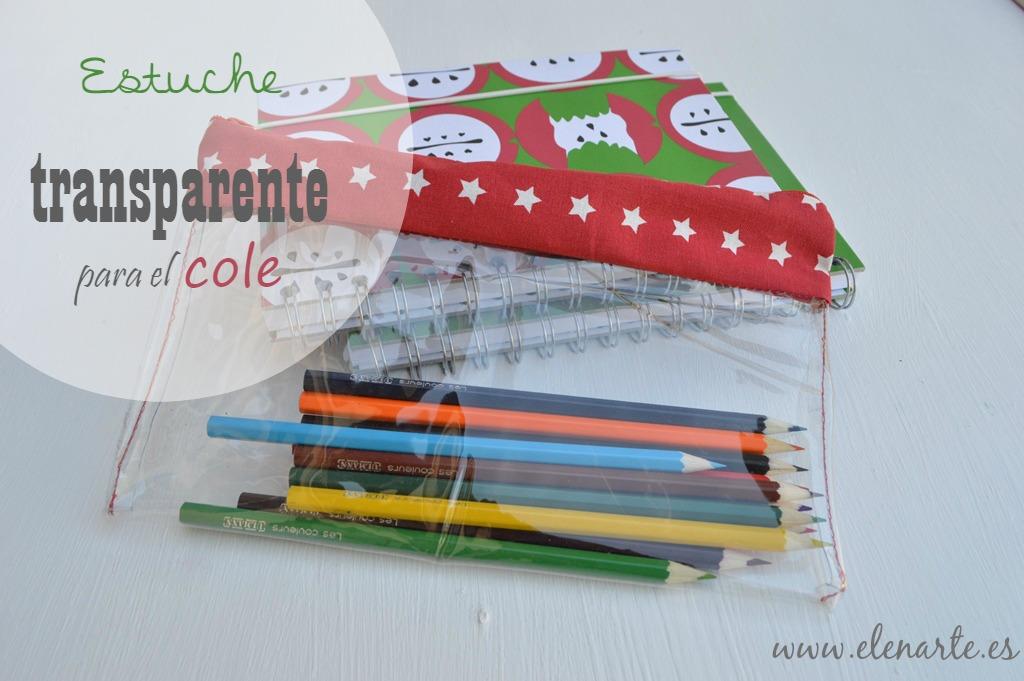 Estuche para lápices transparente
