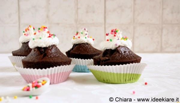 muffin facili con panna montata