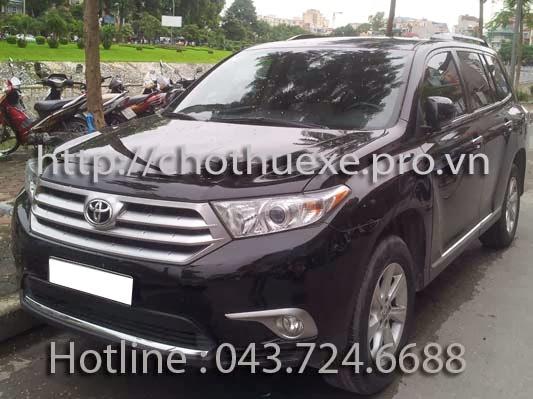 Cho thuê xe 7 chỗ Highlander VIP tại Hà Nội