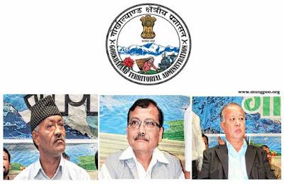 GJM MLA Harka Bahadur Chettri, Rohit Sharma, Trilok Dewan
