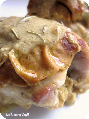 Maple Dijon Glazed Chicken Recipe | Six Sisters' Stuff