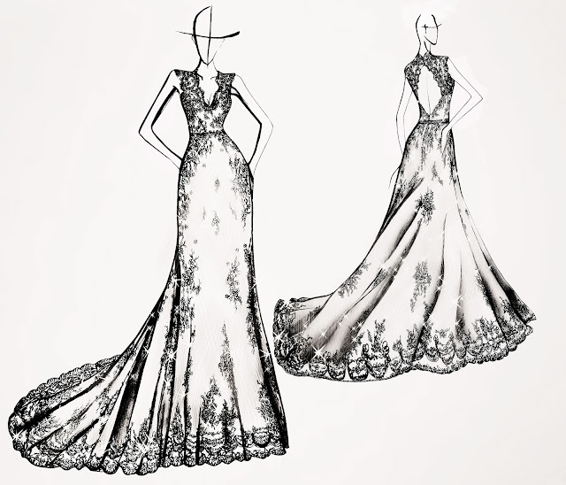wedding dress design sketch