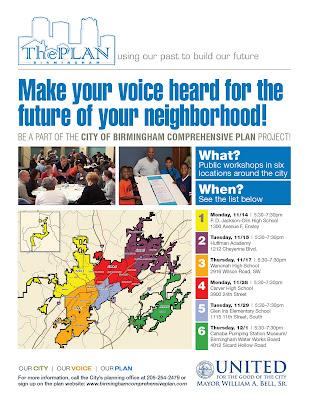 Birmingham City Comprehensive Plan flyer