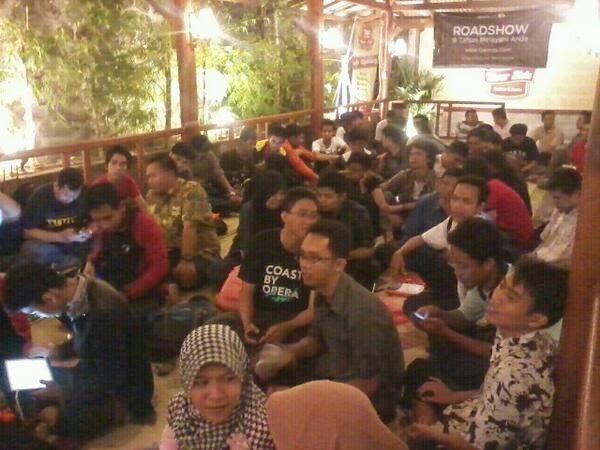 Antusias peserta Roadshow Qwords di Yogyakarta