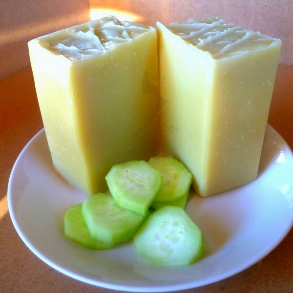 all natural cucumber aloe soap
