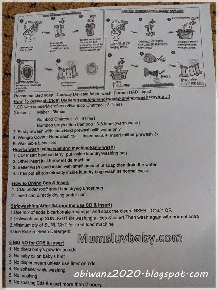panduan cuci cloth diaper