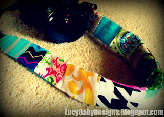 how to make a camera strap slip cover