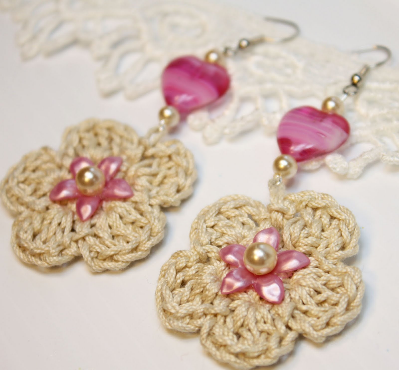 Crochet Earrings : ... earrings today because it s summer i thought crochet earrings has a