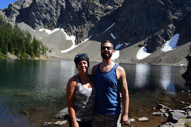 A couple enjoying the Blue Lake Hike