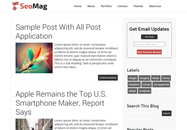 top 10 free reaponsive blogger template