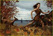 Jessica Alba, como Pocahontas, para foto de Annie Leibovitz