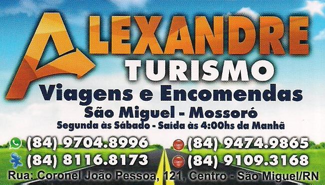 ALEXANDRE TURISMO VIAGENS E ENCOMENTAS
