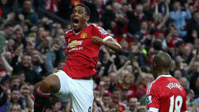 Anthony Martial mencetak gol pada debutnya untuk Manchester United