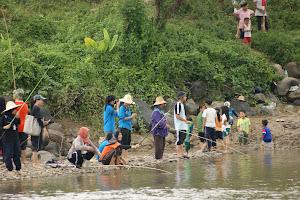 aktiviti memancing di Kg Baginda