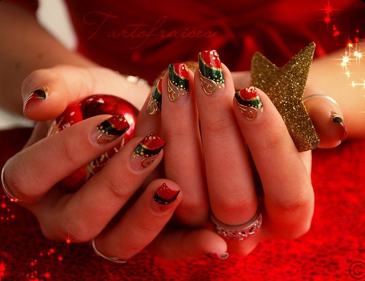 Christmas Design For Short Nails : Christmas nails art