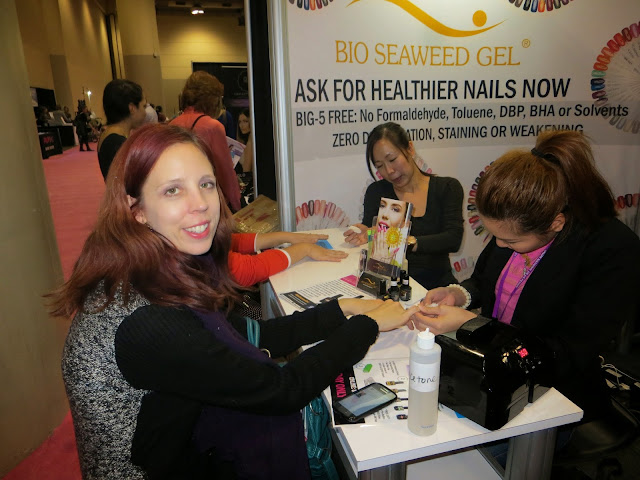 The National Wome's Show, Toronto, Lifestyle, fashion, beauty, products, vendors, samples, girls weekend, shopping, event, ontario, canada, fun, 2014, the purple scarf, melanieps, bio seaweed gel, nail polish