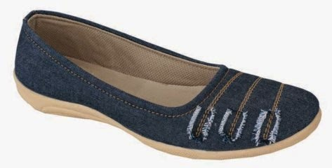 DENIM FLAT SHOES