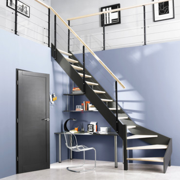 trucs astuces et id es d co espace sous l 39 escalier. Black Bedroom Furniture Sets. Home Design Ideas