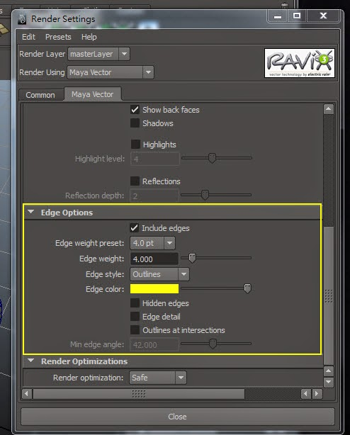 Maya Vector Render for AI 06