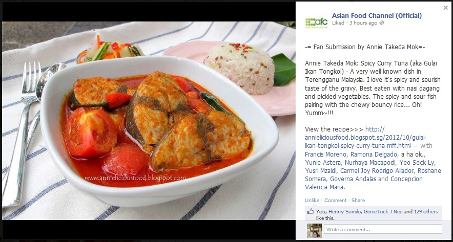 Annielicious food gulai ikan tongkol spicy curry tuna mff this post gets featured in asian food channel afc facebook forumfinder Image collections