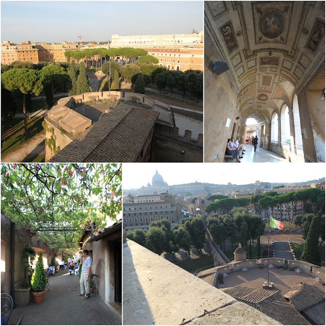 More interior and outdoor views from the Castel Sant'Angelo in Rome, Italy