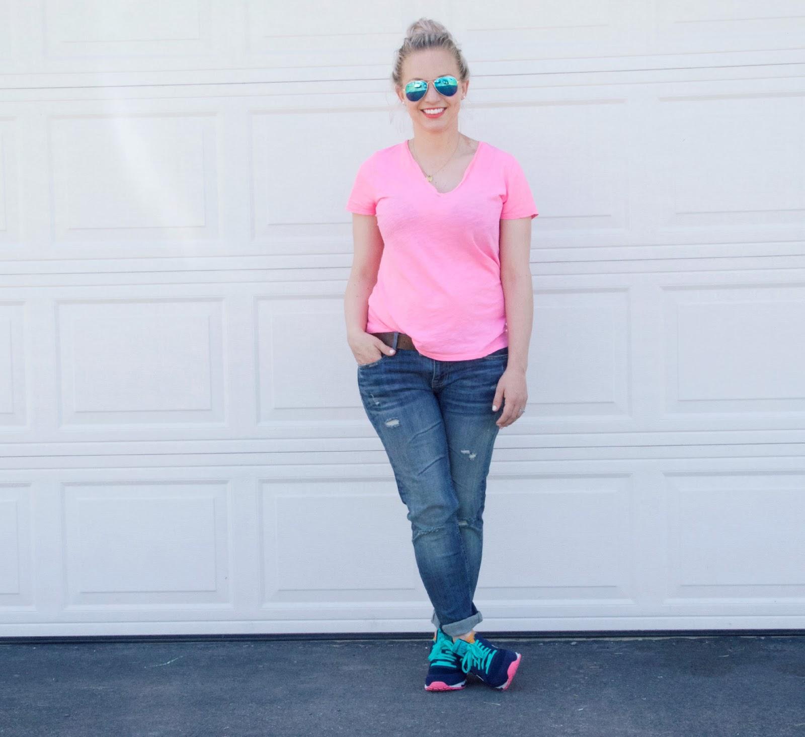 neon v-neck t-shirt