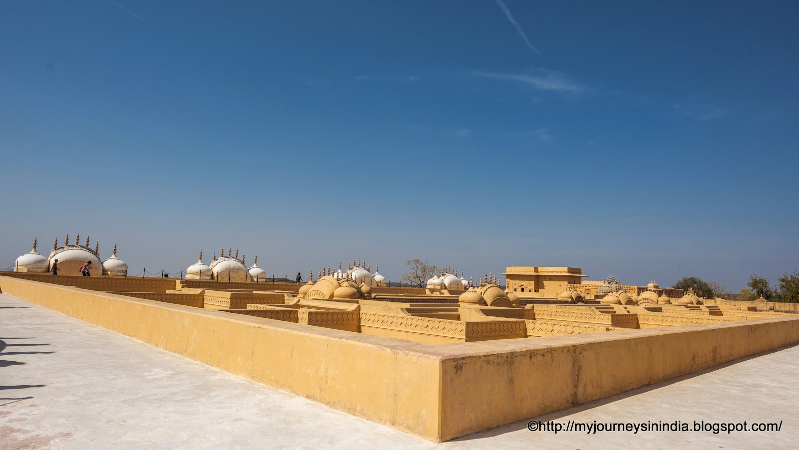 View of Domes in Nahargarh Fort Jaipur