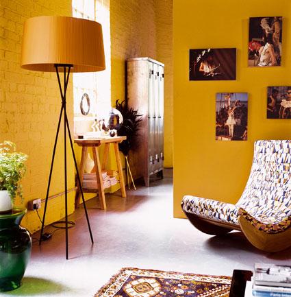 Decoritzion pared amarilla y naranja - Combina colores en paredes ...