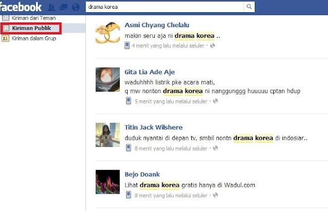 Menggunakan Fitur Kiriman Publik Facebook Search