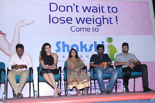 Namitha Latest Pictures in Short Dress at Shakshii Wellnness Press Meet 252837)