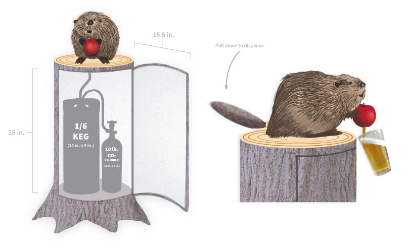 Woodchuck Limited Edition Kegerator Concept: Design by Lisa DeAngelo