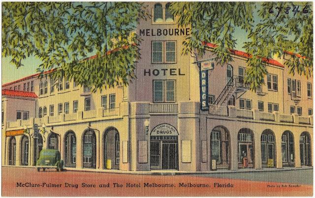 Melbourne Hotel  Vintage Posctcard Melbourne Florida