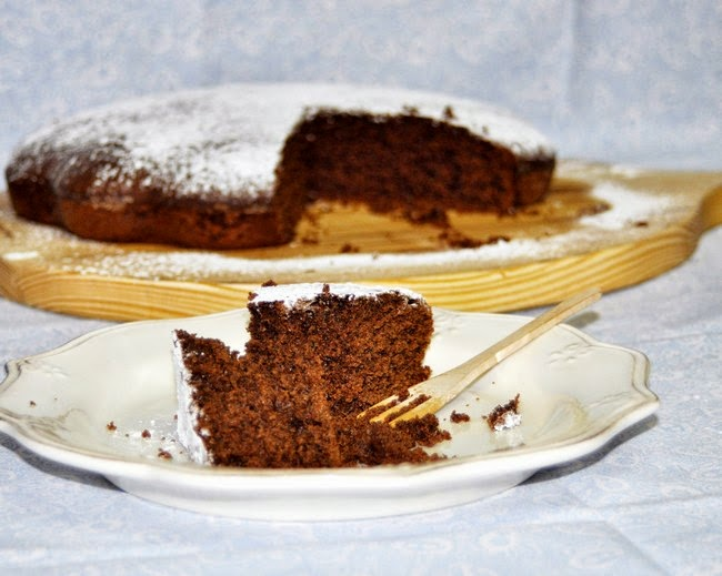 Chocolate and carob cake