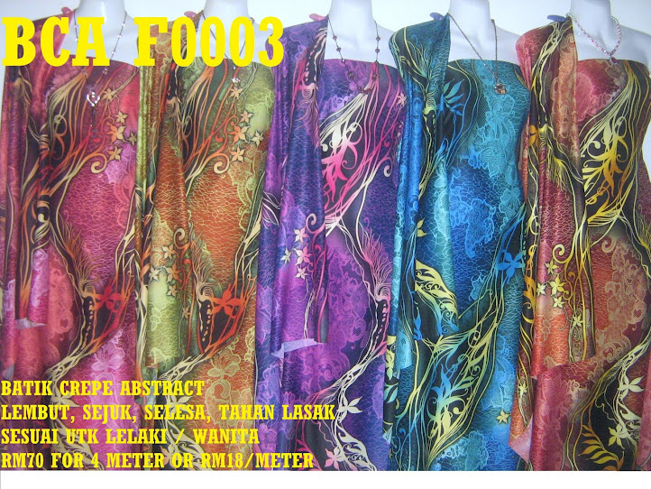 BCA F0003: BATIK CREPE ABSTRACT,  4 METER
