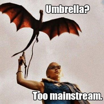 paraguas drogon khaleesi - Juego de Tronos en los siete reinos