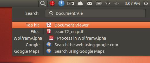 Applet para lanzar aplicaciones y buscar documentos en Ubuntu, indicador buscar archivos ubuntu, indicadores para ubuntu, applets para ubuntu