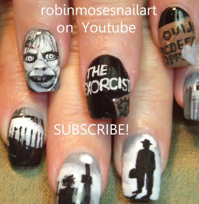 """The Ten Scariest Nail Art Designs For Halloween: Robin Moses Nail Art: """"halloween Nails"""" """"scary Nail Art"""