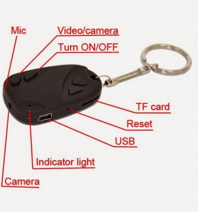 Llavero Espía estilo Mando de coche con USB