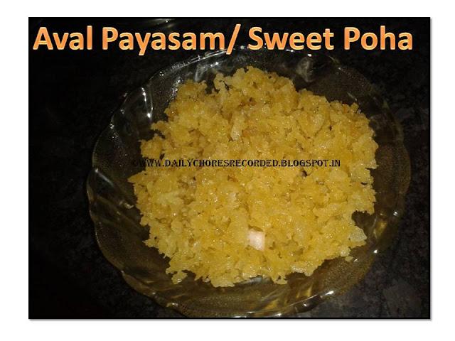 Aval Payasm/ Sweet poha