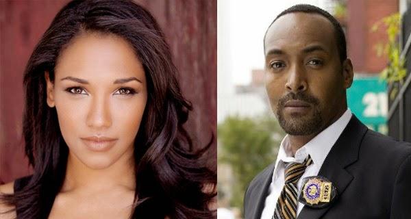 Jesse L. Martin (Detective West) y Candice Patton (Iris West) en The Flash (CW)