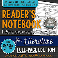 https://www.teacherspayteachers.com/Product/Gr-2-5-Readers-Notebook-Response-Pages-for-Literature-FULL-PAGE-SET-1884008
