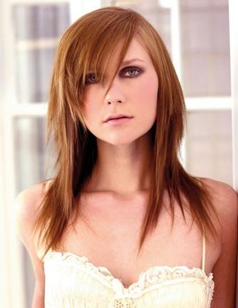 Corte de cabello largo en capas grafiladas