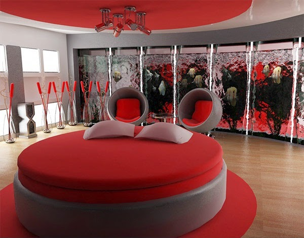 deco chambre interieur d coration chambre en rouge. Black Bedroom Furniture Sets. Home Design Ideas