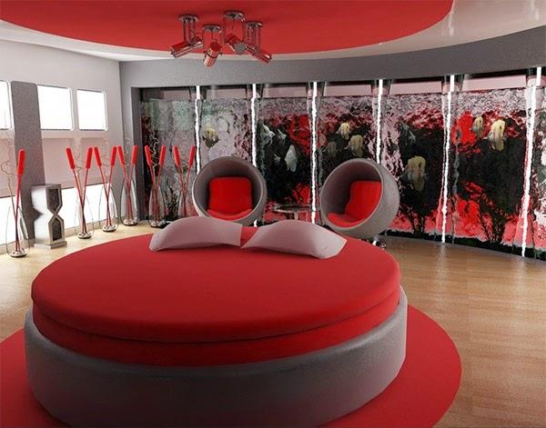 DECO CHAMBRE INTERIEUR Décoration chambre en rouge