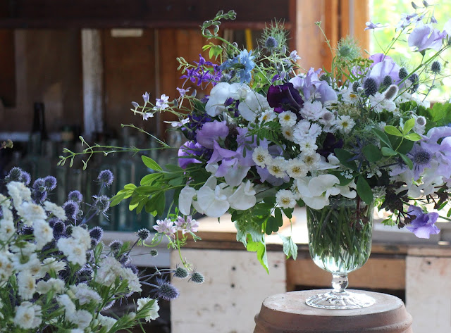 Chickadee Hill Flowers, farmer florist, sustainably grown, organic, Maine, Maine weddings, wedding, artful, wild and rustic, elegant, uncommon, fairytale, unique, gardening, centerpiece, table arrangment
