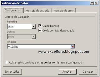 Cómo asociar una imagen al valor de una celda en Excel 2007.