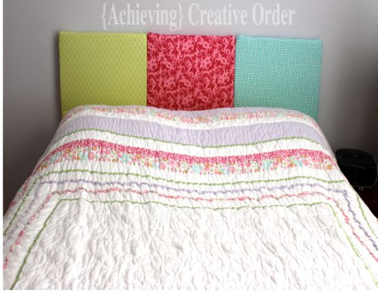 Achieving creative order do it yourself fabric headboard for Do it yourself headboards with fabric