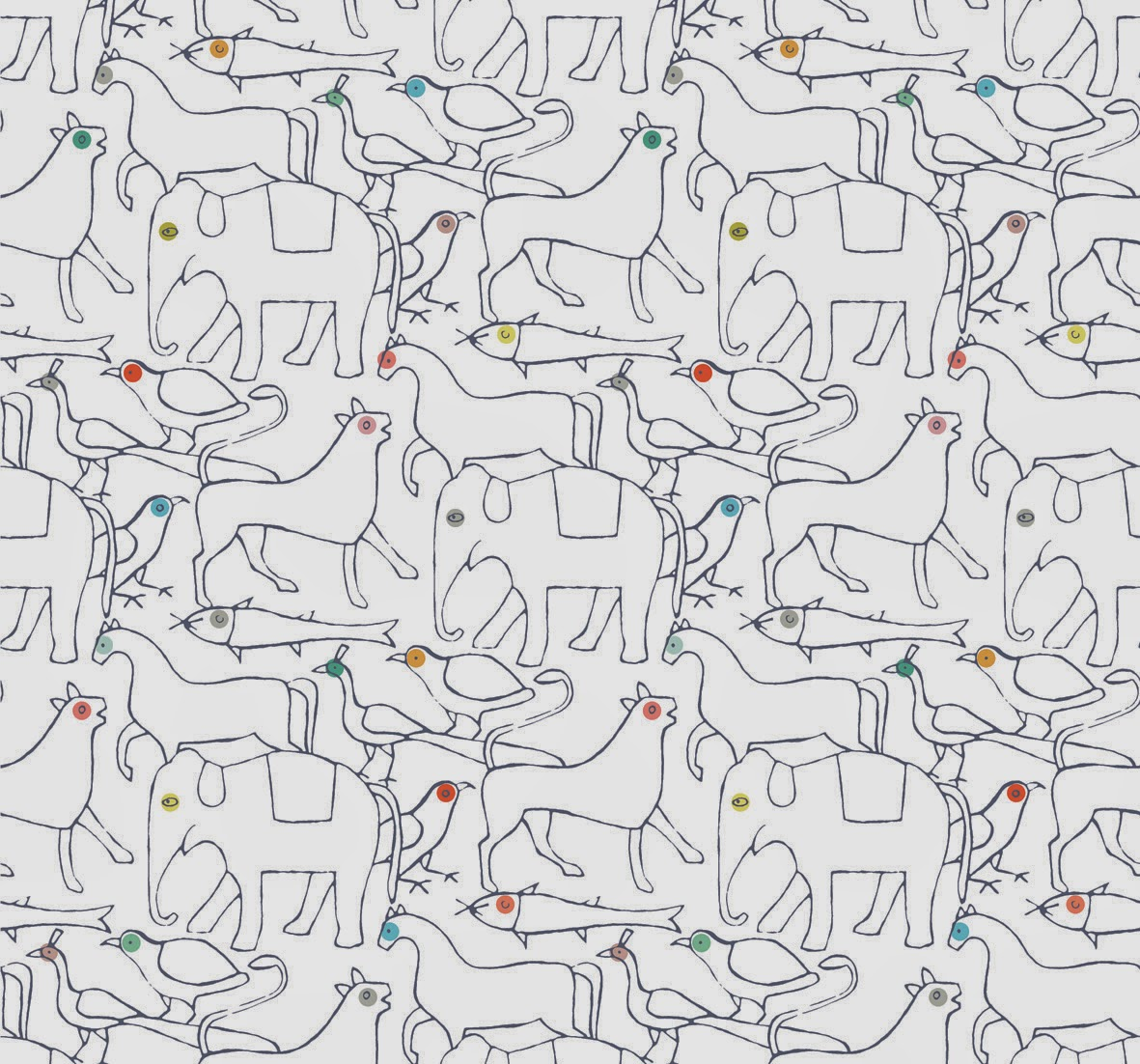 ... wallpaper by French team Minakani Lab - this isn't their newest design, but it it oh so one of our favourites. Simply perfect for a kiddies room or ...
